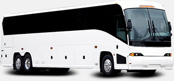 charter bus part of 4-SEASONS fleet of vehicles for group tours